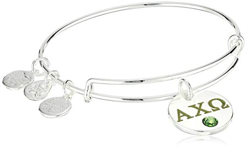 Alex and Ani Women's Color Infusion Alpha Chi Omega II EWB Bracelet, Shiny Silver