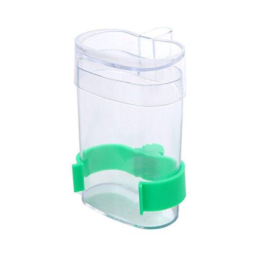 Aolvo - Botella de agua para pájaros, alimentador automático de pájaros, 220 ml, resistente y transparente, dispensador de agua para pájaros y pájaros