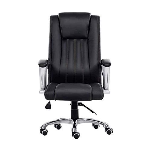 DJDLLZY - Sedia da ufficio con schienale alto, ergonomica, in pelle PU, regolabile, moderna sedia girevole per computer