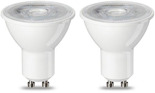 AmazonBasics GU10 LED Lampe, Spot, 4.7W (ersetzt 50W), warmweiß, 2er-Pack