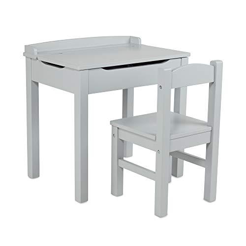 Melissa & Doug - Jeu de Meubles Wooden Lift-Top Desk & Chair - Gray
