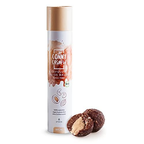 Oatsome Bliss Balls 'Conny Cashew' Kakao-Cashew Hülle gefüllt mit Cashewmus - vegane Pralinen, glutenfrei, ohne raffinierten Zucker - 100% natürliche Bio-Zutaten (114g)