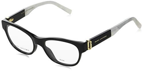 Marc Jacobs - Montura de gafas - para mujer Negro glänzend schwarz - marmor stil weiß 54