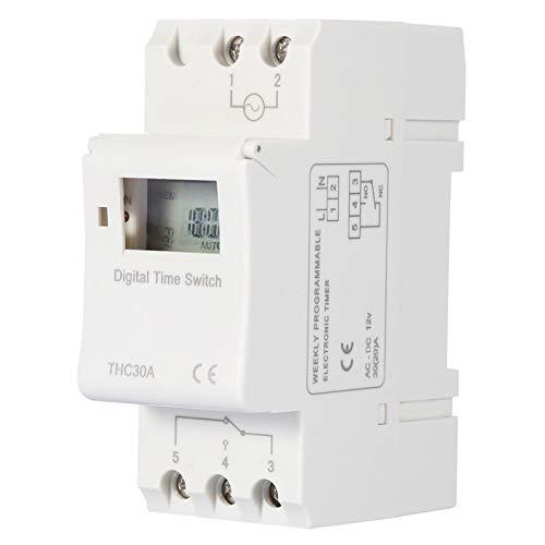 Interruptor de tiempo programable en carril DIN electrónico 12V / 110V /...