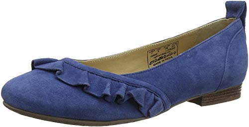 Hush Puppies Damen Willow Plateau Ballerinas, Blau (Blue (Blue 65) 65), 37 EU