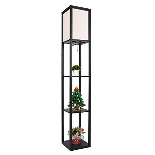 PULUOMIS Floor Lamp with Shelves...