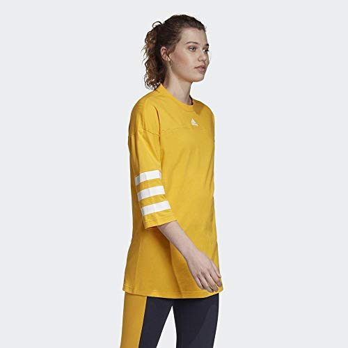 adidas Damen Sport ID Jersey Top M Active Gold/Active Gold - 4