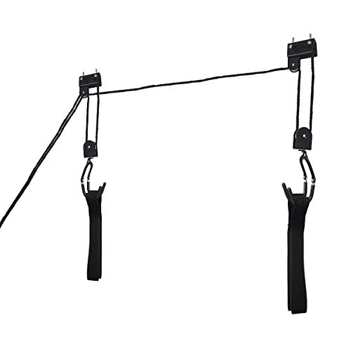 USA_BEST_SELLER Bicycle Garage Storage Lift Kayak Hoist Hanger Rack Vertical Bikes Hoist Hook Clip