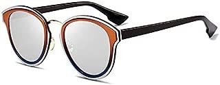 Sunglasses Fashion Accessories Retro Style Sunglasses Minimalist Design Suitable for Outdoor Driving (Color : Silver)
