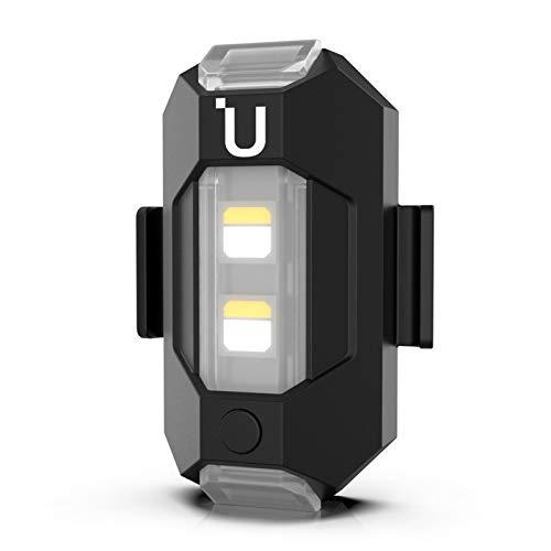 Ulanzi Drone Luce stroboscopica Luce lampeggiante 3 colori Lampeggiante lento e veloce Luce anti-collisione con sostituzione della batteria da 110 mAh incorporata per DJI Mavic AIR 2