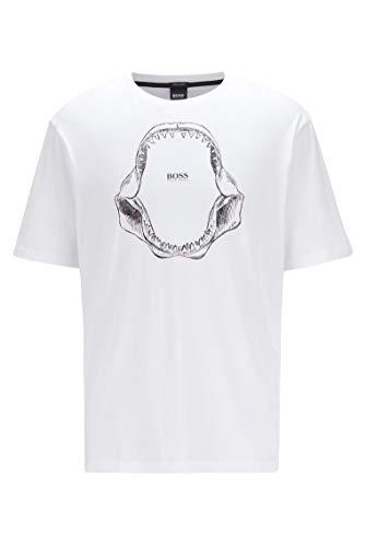 BOSS Tima 2 10139980 01 Camiseta, White100, XL para Hombre