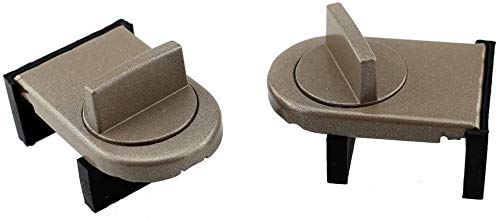 Zelta Adjustable Door Window Lock Stopper Wedge with Rubber Covered for Sliding Window (Bronze, Pack...