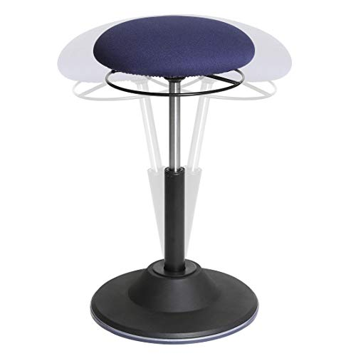 Seville Classics Airlift 360 Sit-Stand Adjustable Ergonomic Active Balance Non-Slip Desk Stool, Blue