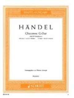 CHACONNE G-DUR MIT 21 VARIATIONEN - arrangiert für Klavier [Noten/Sheetmusic] Komponist : HAENDEL GEORG FRIEDRICH