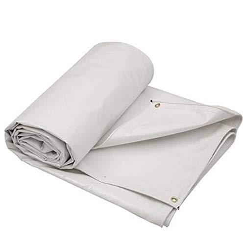 Bâche Épaisse Imperméable Imperméable Blanche De De Protection Solaire De PVC De Protection Solaire 650 / ㎡ De (Taille : 5x3m)