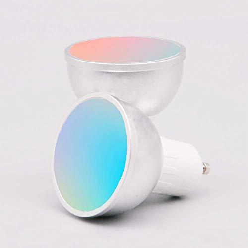 Bombilla LED Inteligente WiFi GU10, APP y Control de Voz, con Control de Grupo de Familia Compartida, Compatible con Amazon Alexa/Google Assistant