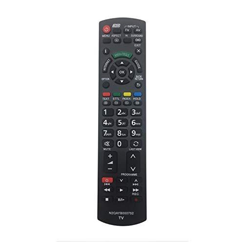 MYHGRC Ersatzfernbedienung N2QAYB000752 für Fernbedienung Panasonic Viera smart tv LCD-Plasma-LED Fernseher TX-P42XT50E TX-P46GT30E TX-P46GT30Y TX-P46GTF32 TX-P46GTF32J TX-P46GTN33 TX-P46GTS31