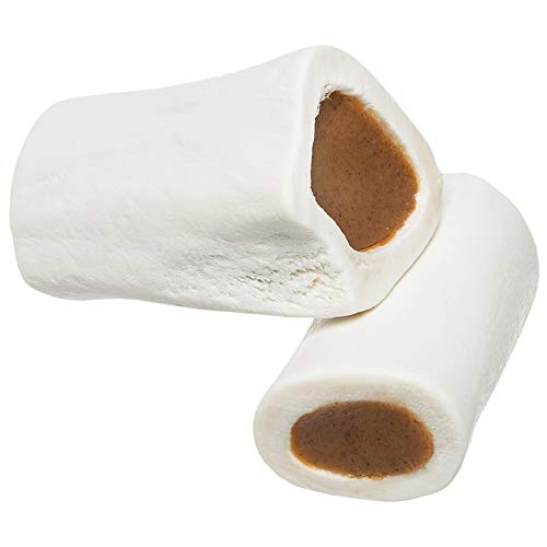 """Redbarn Filled Dog Bones (Peanut Butter, Cheese N' Bacon, Beef), Natural Long-Lasting Dental Treats; Suitable for Aggressive Chewers. (Peanut Butter, Small (3"""") - 1 Bone)"""
