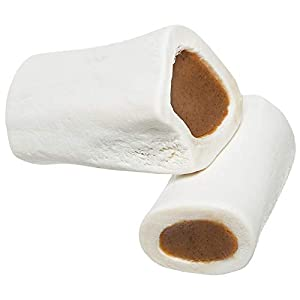 Redbarn Filled Dog Bones | Natural Long-Lasting Dental Treats; Suitable for Aggressive Chewers. (Peanut Butter, Small (3″) – 5 Bones)