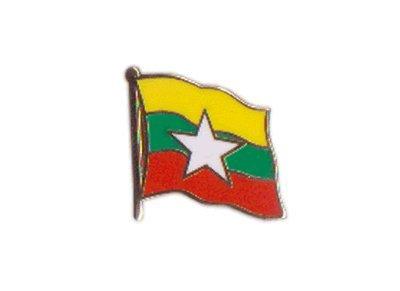 Flaggen-Pin/Anstecker Myanmar neu