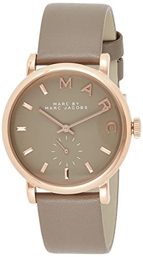 MARC BY MARC JACOBS マークバイマークジェイコブス 腕時計 Baker ベイカー グレー/ピンクゴールド×グレーレザーベルト MBM1266 [並行輸入品]