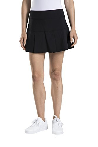 Prince Womens Stretch-Woven Tennis Skort (Medium, Black)