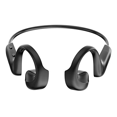 Auricolare Bluetooth 5.0 A Conduzione Ossea, Auricolare Sportivo Impermeabile Senza Fili Montato Sull'orecchio, Auricolare Bluetooth 5.0 con Doppio Microfono Integrato per La Riduzione del Rumore