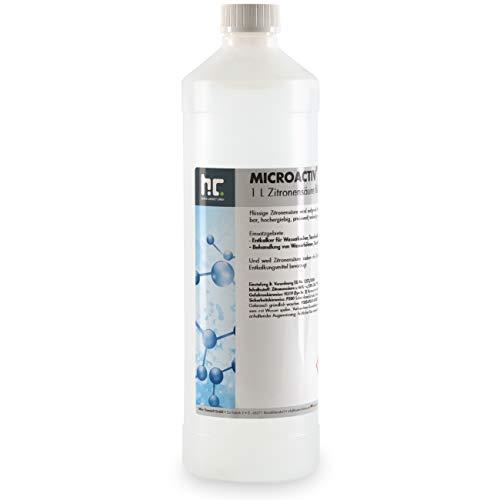 Höfer Chemie 1 Liter Zitronensäure 50% flüssig - Entkalker für Küche & Bad - biologisch abbaubar
