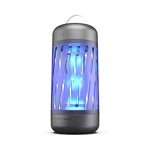 SKEETER HAWK Premium Mosquito Zapper | Plug-in Bug Zapper with 360º Electrical Grid & UV Light Technology - No Pesticides, Chemicals Or Odors, Black & Blue, One-Size