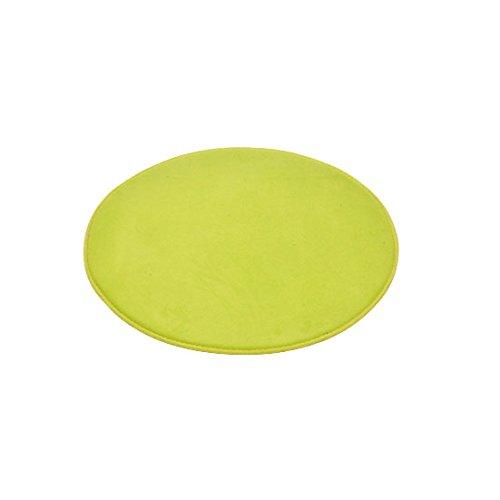 Douceur d'Interieur 6GMB270VC Vitamine - Tappeto per Bagno, Rotondo, in Poliestere, 60 x 60 x 1 cm, Colore: Verde Anice