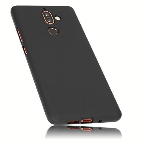 mumbi Hülle kompatibel mit Nokia 7 Plus Handy Hülle Handyhülle, schwarz