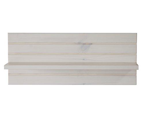 Steens Monaco Wandregal, 54 x 21 x 14 cm (B/H/T), Kiefer massiv, Weiß