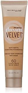 Myb Drm Velvet Fndtn 60 S Size 1.0 O Maybelline Dream Velvet Foundation 60 Sandy Beige 1.0oz