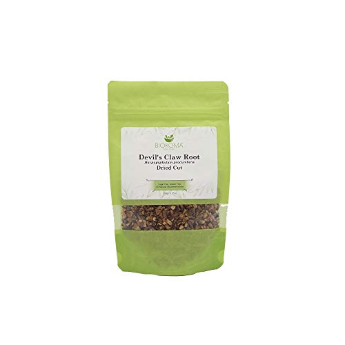 100% Pure and Natural Biokoma Devil's Claw Root Dried Cut 100g (3.55oz) in Resealable Moisture Proof Pouch