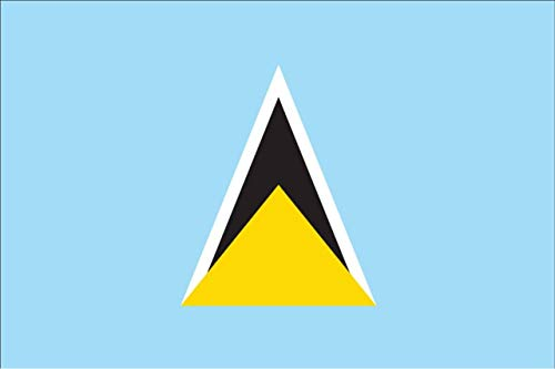 flaggenmeer® Flagge St. Lucia 80 g/m² ca. 60 x 90 cm