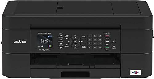 Brother MFCJ491DW Stampante Multifunzione Inkjet a Colori A4, Fax, Velocità Stampa fino a 12 ipm Mono e 6 ipm Colori, Wireless, Stampa Fronte/Retro Automatica, USB, Wi-Fi Direct, Stampa da App, Nero