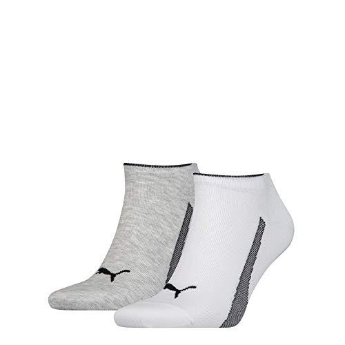 PUMA 2 Pairs Unisex Sneaker Sports Socks Promotion White/Grey 9-11 (43-46)