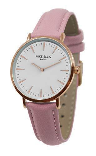 Mike Ellis New York Damen Armbanduhr Ø 34mm rosa