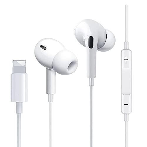 Écouteurs Intra-Auriculaires pour iPhone,avec Micro et Contrôle du Volume Audio HiFi Stéréo Insonorisé Réduction du Bruit Casque Bluetooth Filaire Compatible pour iPhone 12/7/7P/8/8P/X/XR/XS Max/11