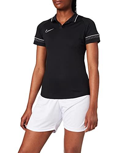 NIKE Dri-FIT Academy Camisa Polo, Mujer, Negro/Blanco/Antracita/Blanco, M