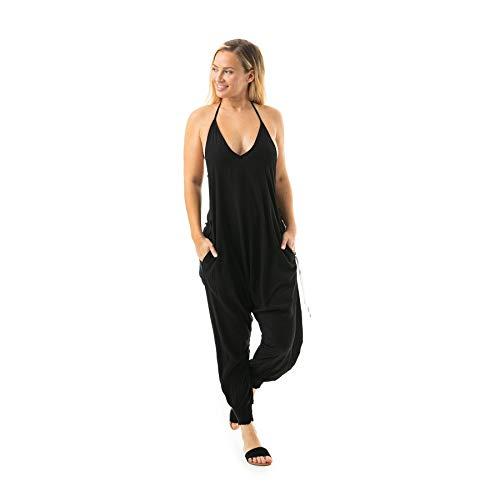 Buddha Pants Solid Harem Jumpsuits Black