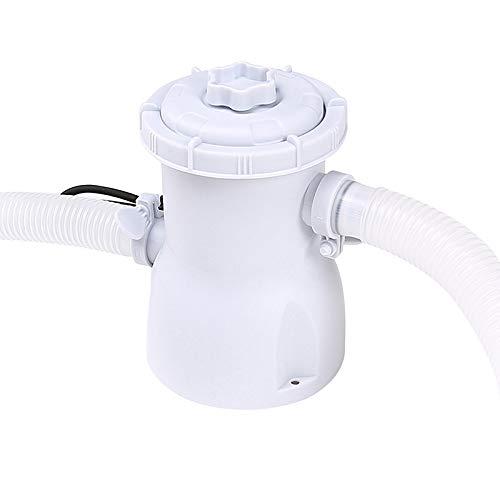 Yezytech Bombas para piscinas,Depuradora cartucho Filtros,Bomba de filtro de piscina Limpiador de piscina 220v Filtro eléctrico Bomba de piscina Bomba de circulación