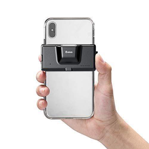 Eyoyo 2D Wireless Bluetooth Barcode Scanner, lettore di codici a barre del telefono con clip posteriore regolabile per codice QR PDF417 1D CMOS, funziona con iPhone, Android, iOS