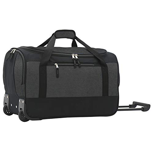 Travelers Club Pinnacle Travel Rolling Duffel Bag, grey, Carry-On 20-Inch