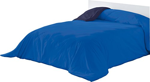 Lucena Singes warmte-niet-gewogen dekbedovertrek, fiets, blauw/marine, 240 x 270 cm