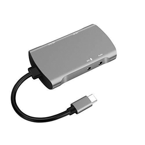 Video Capture Card 4k, GLUBEE Hdmi Capture Card 1080p 60fps Switch USB hdmi Adapter für Gaming, Streaming, Cam link, Aufnahmegerät TV für Windows Mac OS System von PS4, Switch, Xbox