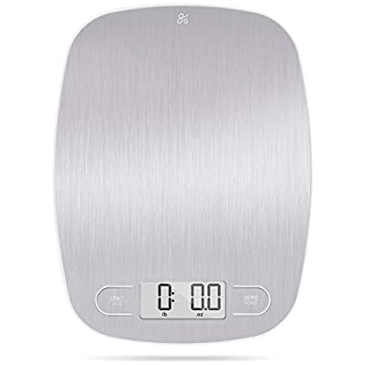 Digital Kitchen Scale Digital Weight Grams and Ounces (Stainless Steel)