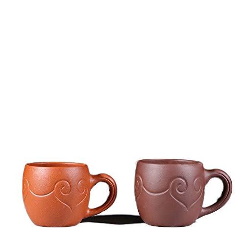 HuiQing Zhang Theeservies kopje originele mijne paars persoonlijke cup zand Ruyi band naar de kop van de master-cup theekom nemen (Color : Purple mud)