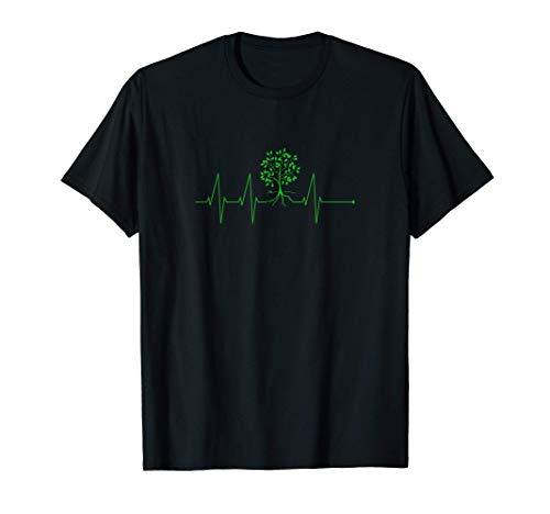 Herzschlag Pflanzen EKG Puls | Garten Blumen Gärtner Bäume T-Shirt