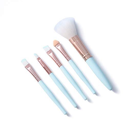LSWL 5pcs / set Kawaii Maquillage des yeux Brosses Eyeliner Ombre à paupières Sourcils Visage fard à joues Rose Bleu Maquillage du visage Outils cosmétiques (Color : 01)